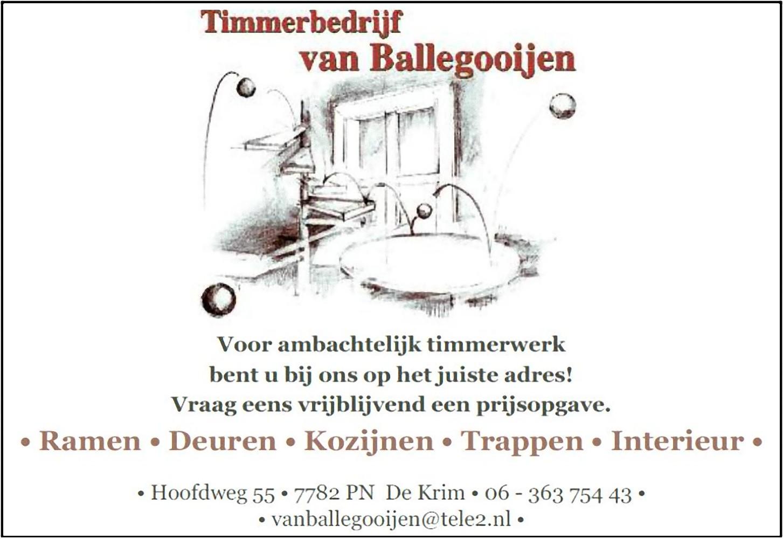 Timmerbedrijf van Ballegooijen